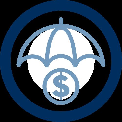 Umbrella Over a Dollar Sign