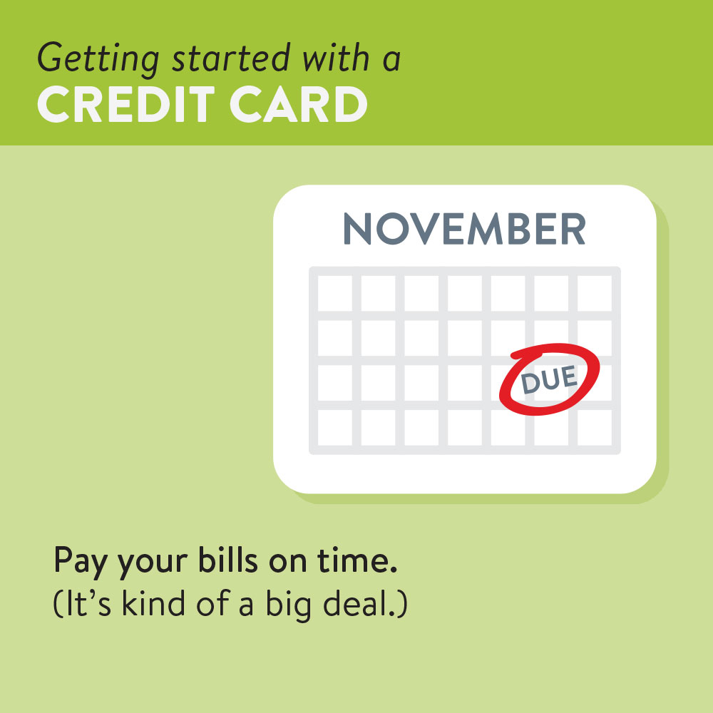 Pay your bills on time.